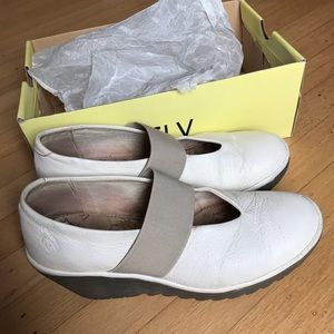 Fly London wedges white